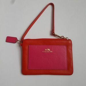 Coach • Red & Pink Wrislet Wallet